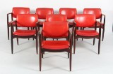 Erik Buch. Eight armchairs, solid rosewood (8)