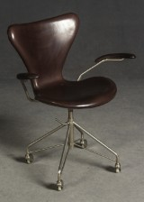 Arne Jacobsen, an office chair, series 7, model 3217, for Fritz Hansen