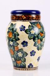 Alumina vase af fajance, H. 33,5 cm