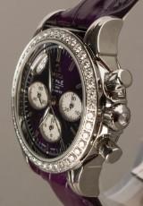 Omega de Ville, ladies' wristwatch, Co-Axial Chronograph with 44 diamonds/brilliant-cut diamonds.
