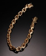 Armbånd, ankermønster i 14 kt guld