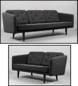 Børge Mogensen. Tre samt to-pers sofa, Fredericia Furniture, model 2003/2002 / No.1.(2)