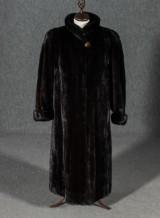 Fur coat, Saga Mink, Superb Quality, fully plucked mink, size approx. 44/46