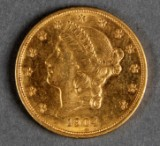 USA. 20 dollars guldmønt 1904