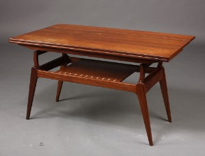 Hæve / sænke sofabord, dansk møbelproducent, teaktræ, 1960erne ...
