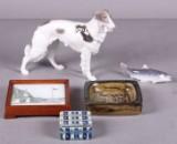 B&G og Kgl. P. Figurer, askebæger m.m. (5)
