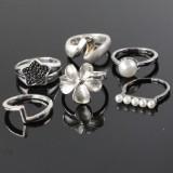 6 ringe i sterling sølv