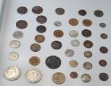 Samling diverse mønter(38 stk.)