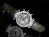 Chopard Imperiale - ladies' wristwatch, white gold chronograph featuring brilliant-cut diamonds and diamonds