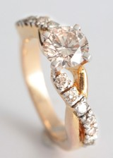 Ring in 18k with brilliant cut diamonds approx. 1.83ct