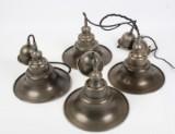 Nordal. Fire pendler af bruneret metal. (4)