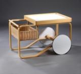 Alvar Aalto. Serveringsbord/ tevogn, model 900