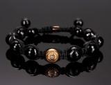 Shamballa Jewels knyttet armbånd med brillanter ca. 0.13 ct.