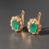 Emerald pendant earrings (2)
