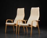 Yngve Ekström. Pair of Lamino easy chairs (2)