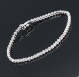 Klassisk vintage diamant tennisarmbånd, i alt ca. 2.00 ct