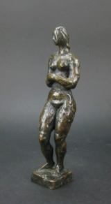 Bronzeskulptur, Jacob Wilhelm Fehrle, 'Kvindeligt nøgenstudie'