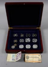 Romerske mønter, guldmønt og sølvmedaljer m.v.