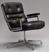 Charles & Ray Eames. Lobby Chair, model ES-108, black leather