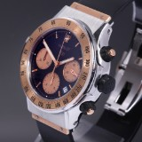 Hublot 'Super B'. Men's watch, 18 kt. rose gold and steel with dial