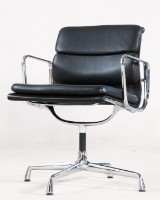 Charles Eames. Soft Pad armchair, model EA-208, black leather