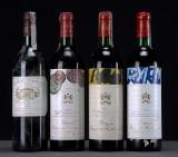 Samling franske rødvine bla. Ch. Mouton Rothschild 1974, 1976, 1978, Ch. Margaux 1978 mm. (14)