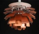 Poul Henningsen. Pendel 'Koglen' med 72 blade af kobber, Ø. 60 cm