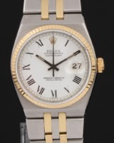 Rolex Oysterquartz Datejust. Men's watch, 18 kt. gold and steel, with date, c. 1980