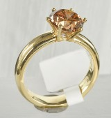 Ring in gold 18 k with diamond approx. 2.83 ct