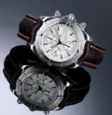 Breitling 'Chronomat Evolution'. Herrechronograf i stål med sølvfarvet skive, 2000'erne