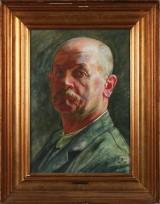 Kristian Zahrtmann, watercolour, self portrait