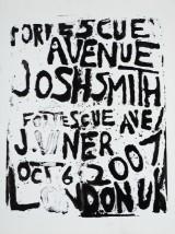 Josh Smith, silketryk på lærred, komposition.