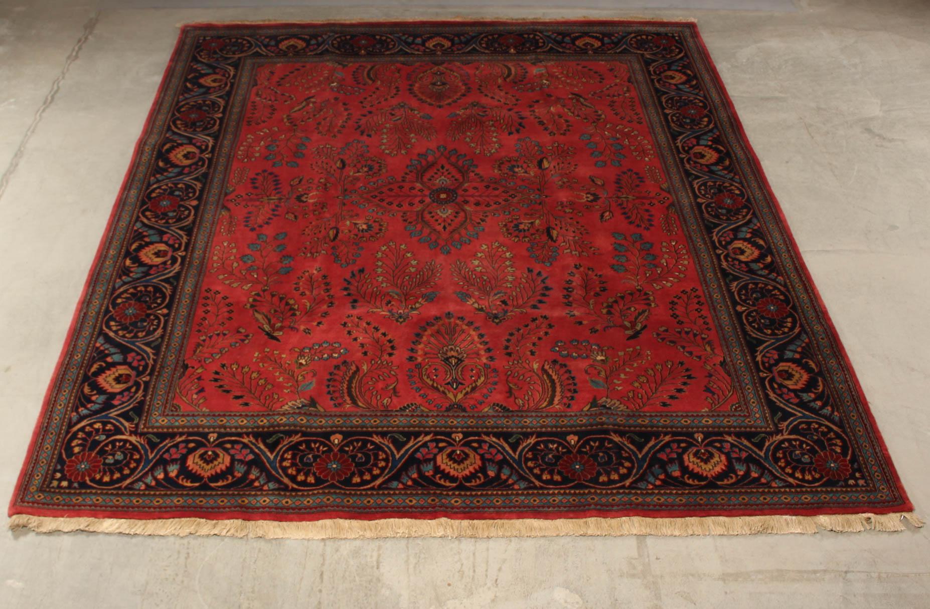 Indo Sarouk tæppe 248 x 298 cm - Indo Sarouk tæppe, uld på bomuld. Mål: 248 x 298 cm