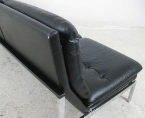 lounge sofa der 1960 70er jahre in chrom und leder. Black Bedroom Furniture Sets. Home Design Ideas