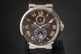 Ulysse Nardin Maxi Marine men's watch, 18 kt. rose gold and steel, ref. 265-67