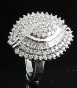 Diamond ring in 14kt gold approx. 1.28ctct
