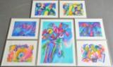 Ubekendt Kunstner, litografier, kompositioner (7)