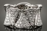 Bvlgari. 'Diva's Dream' Divissima diamond ring, 18 kt. white gold, ref. AN856925.