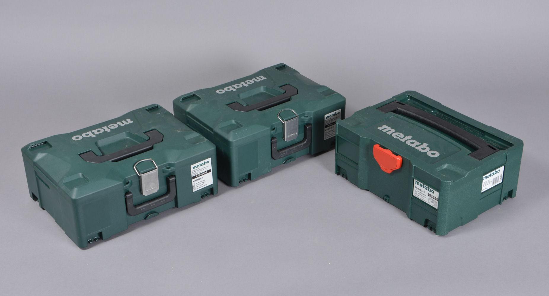 Metabo værktøj. Slagbor, vinkelsliber og boremaskine, 2 el, 1. batteri - Metabo værktøj. Slagboremaskine og vinkelsliber til 220 volt, samt batteridrevet boremaskine. Medflg. ladeapparat og ekstra batteri. Lette / minmale brugsspor