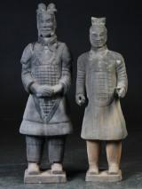 Kinesisk Terracotta figurer. (2)