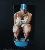 Poul Steen. 'Lille Nips', olie og akryl på lærred, 2019