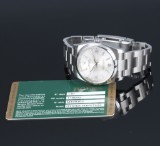 Rolex Oyster Pepetual men's watch, steel, silver-coloured dial, 2008 cert.