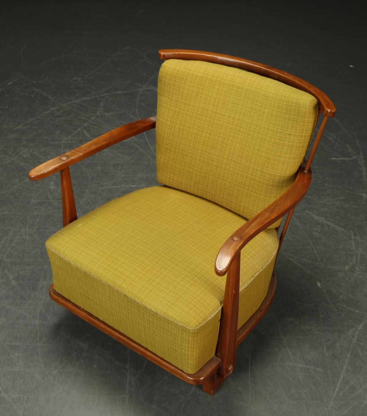 Lænestol, elm, 1940'erne, Fritz Hansen model 1590 |