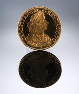 Norge. Christian V 'Larvik Gyldenløves by 300 år' - Medalje af 21,6 kt. guld