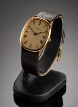 Vintage Patek Philippe 'Ellipse', herrearmbåndsur af 18 karat guld
