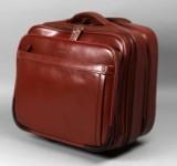 Apples Business/Rejsetaske i rødbrunt læder.