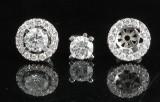 Earrings in 14k set with brilliant cut diamonds 0.74