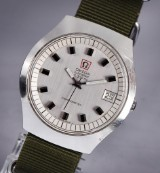 Vintage Omega men's watch, model Electronic f300Hz, steel with silver-coloured dial, c. 1971