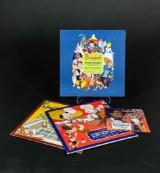 LP Walt Disney en box med fem samt två lösa LP skivor, en singel separat (8)