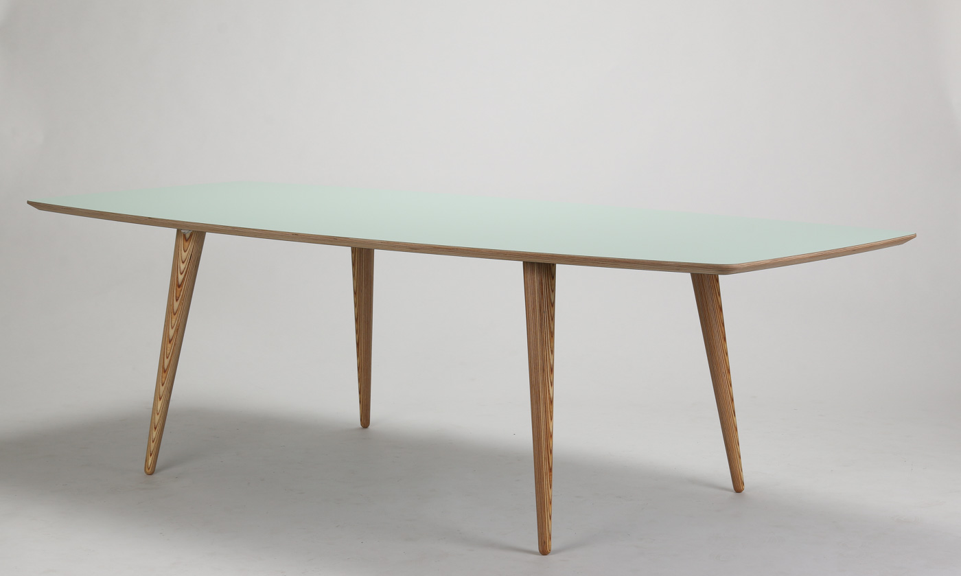 Auktionstipset - Snedkermester Lau Lauritsen. Spisebord, højtryks ...